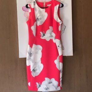 Calvin Klein Hot pink Sheath Party Dress Size 10